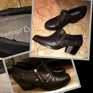 Baretraps black booties/shooties ankle boots sz8w